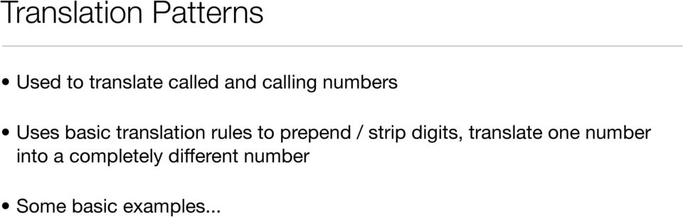 prepend / strip digits, translate one number into