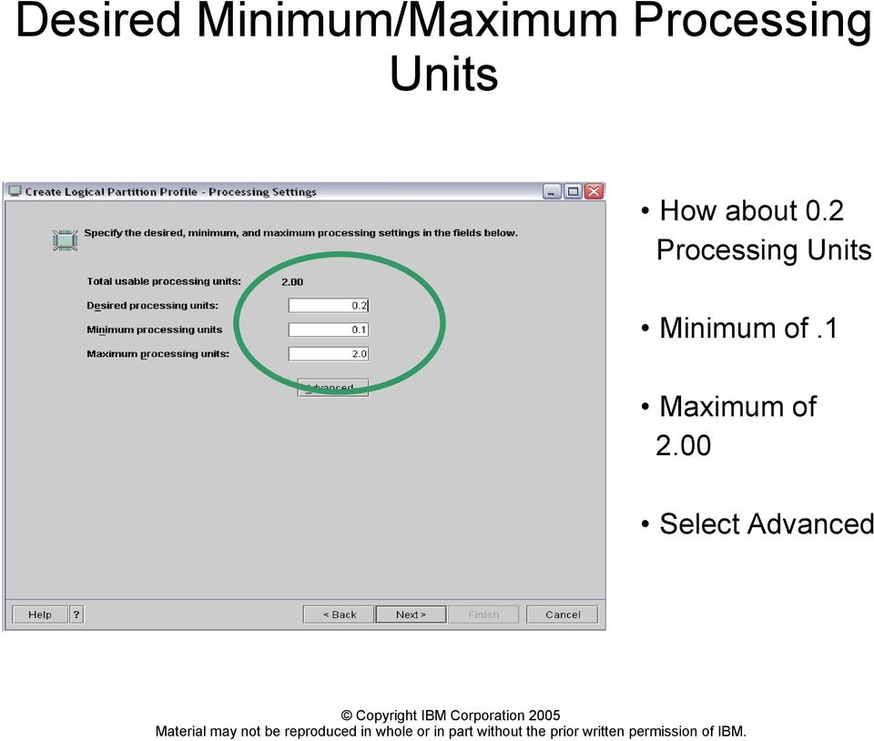 2 Processing Units Minimum