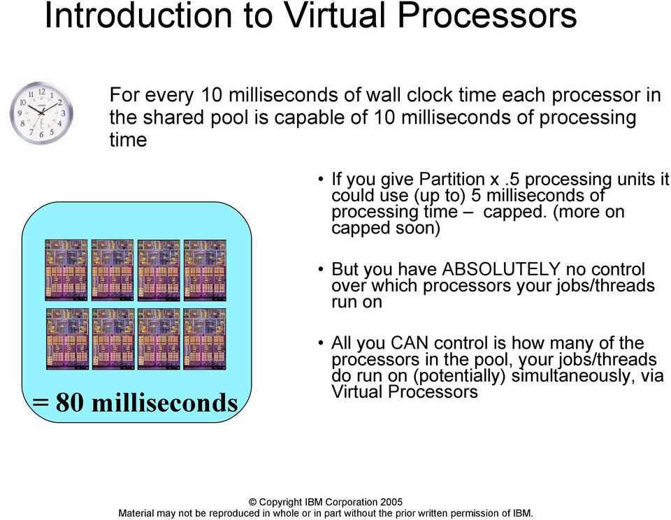 5 processing units it could use (up to) 5 milliseconds of processing time capped.