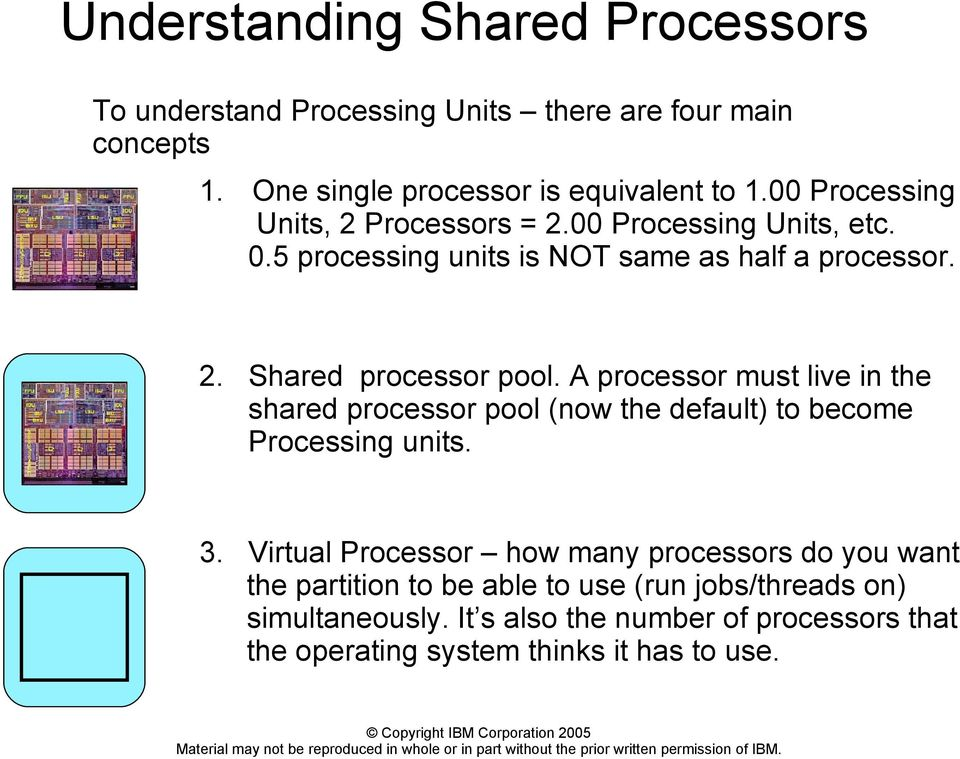 A processor must live in the shared processor pool (now the default) to become Processing units. 3.