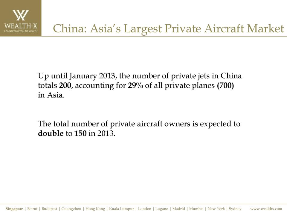 accounting for 29% of all private planes (700) in Asia.