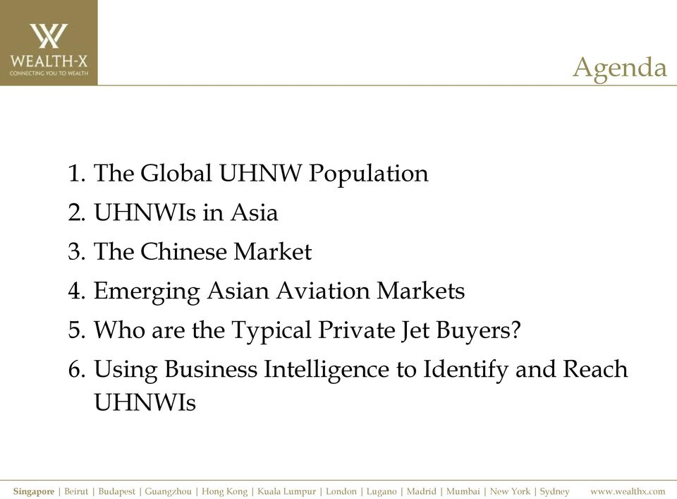 Emerging Asian Aviation Markets 5.