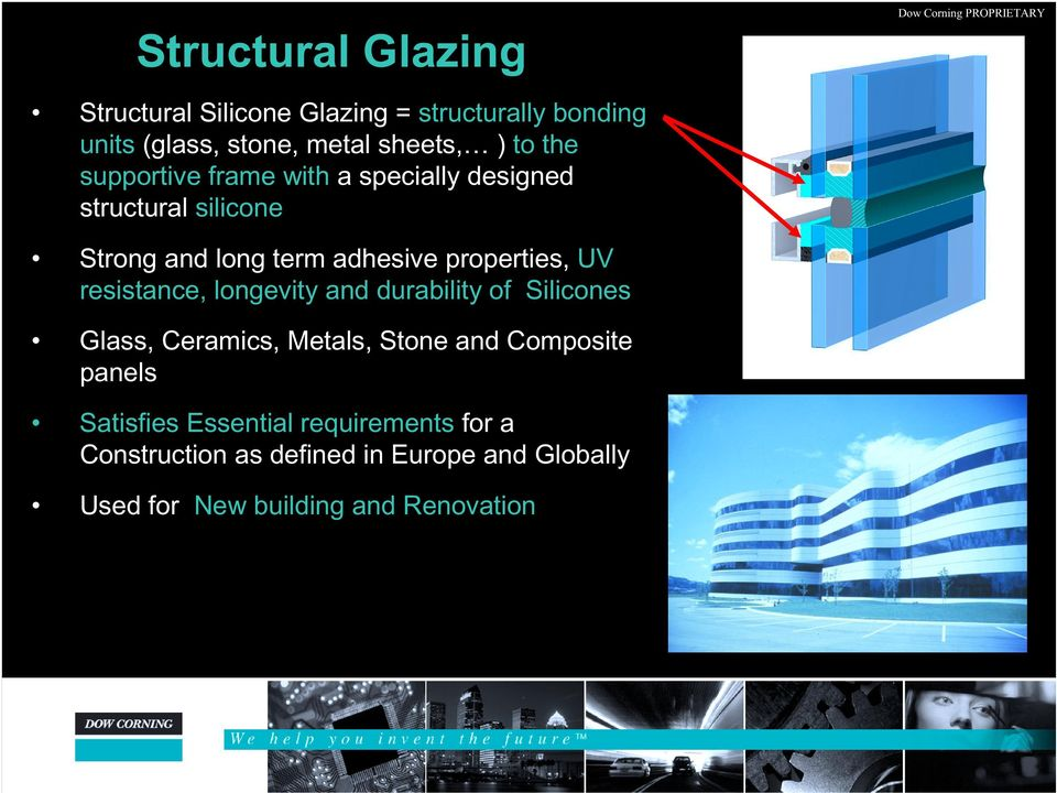 resistance, longevity and durability of Silicones Glass, Ceramics, Metals, Stone and Composite panels Satisfies