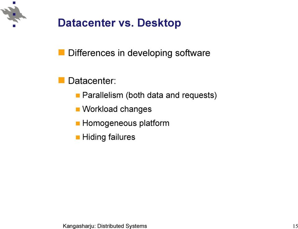 software Datacenter: Parallelism (both