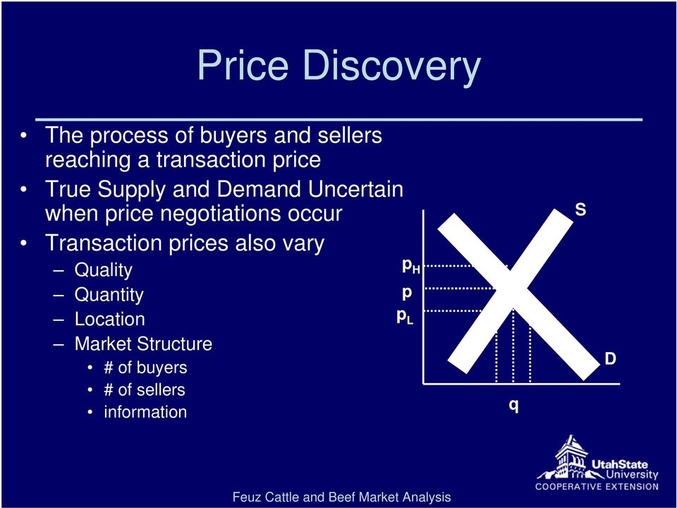 negotiations occur Transaction prices also vary Quality Quantity
