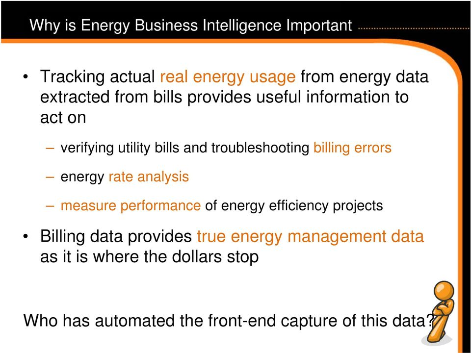 billing errors energy rate analysis measure performance of energy efficiency projects Billing data