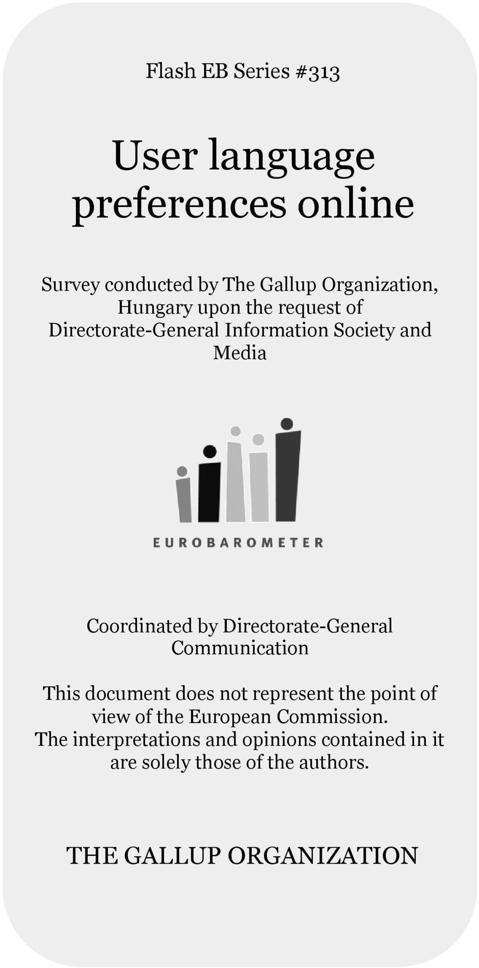 Directorate-General Communication This document does not represent the point of view of the European
