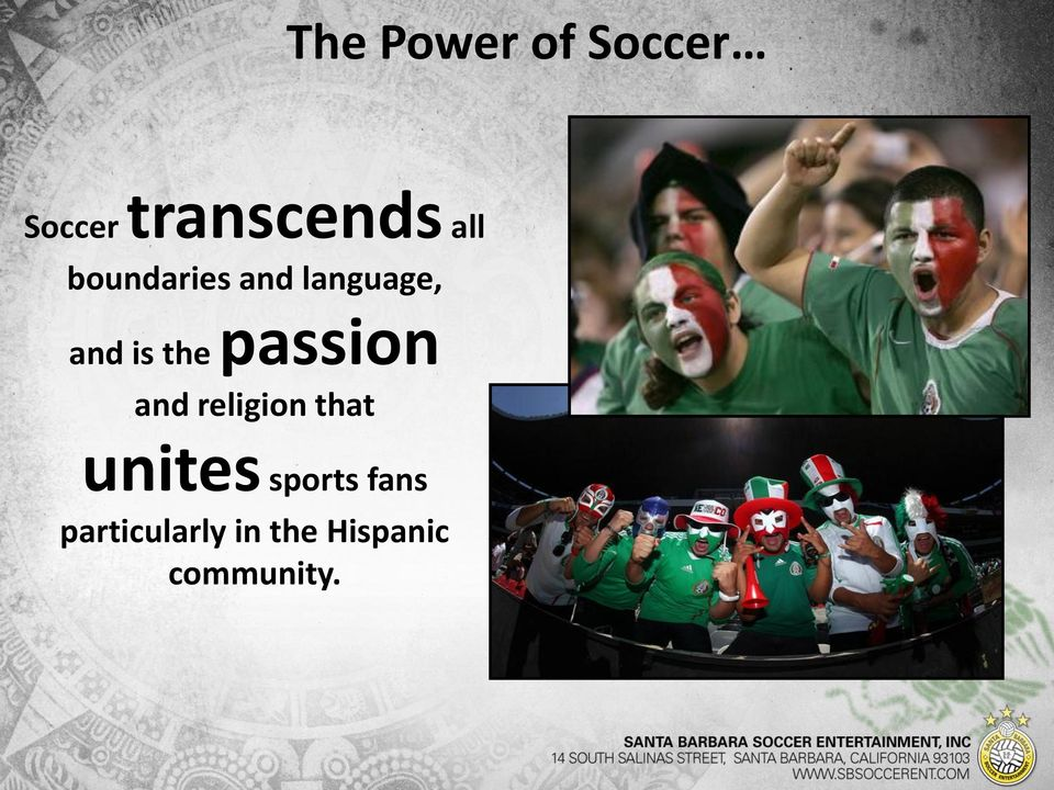 passion and religion that unites sports