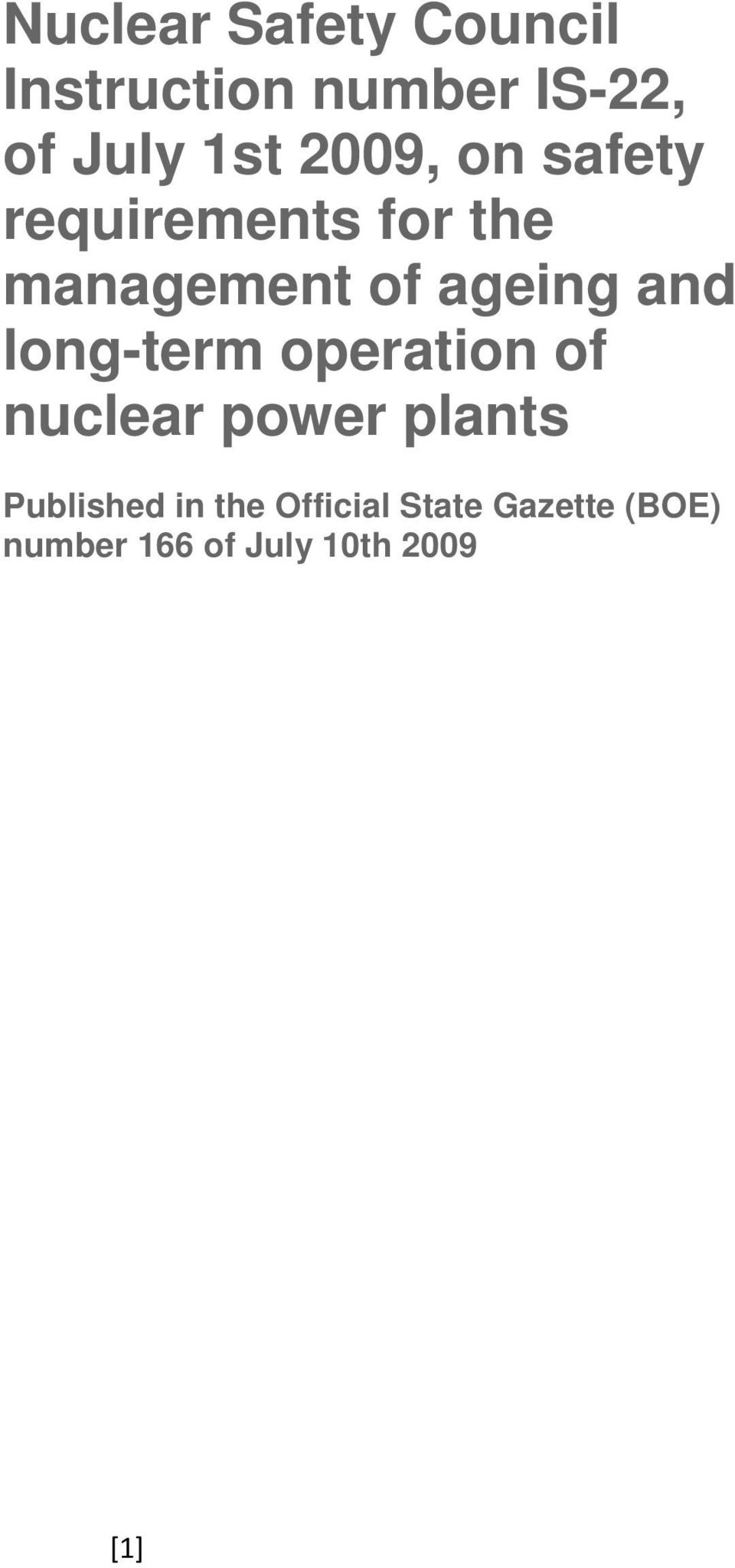 long-term operation of nuclear power plants Published in the