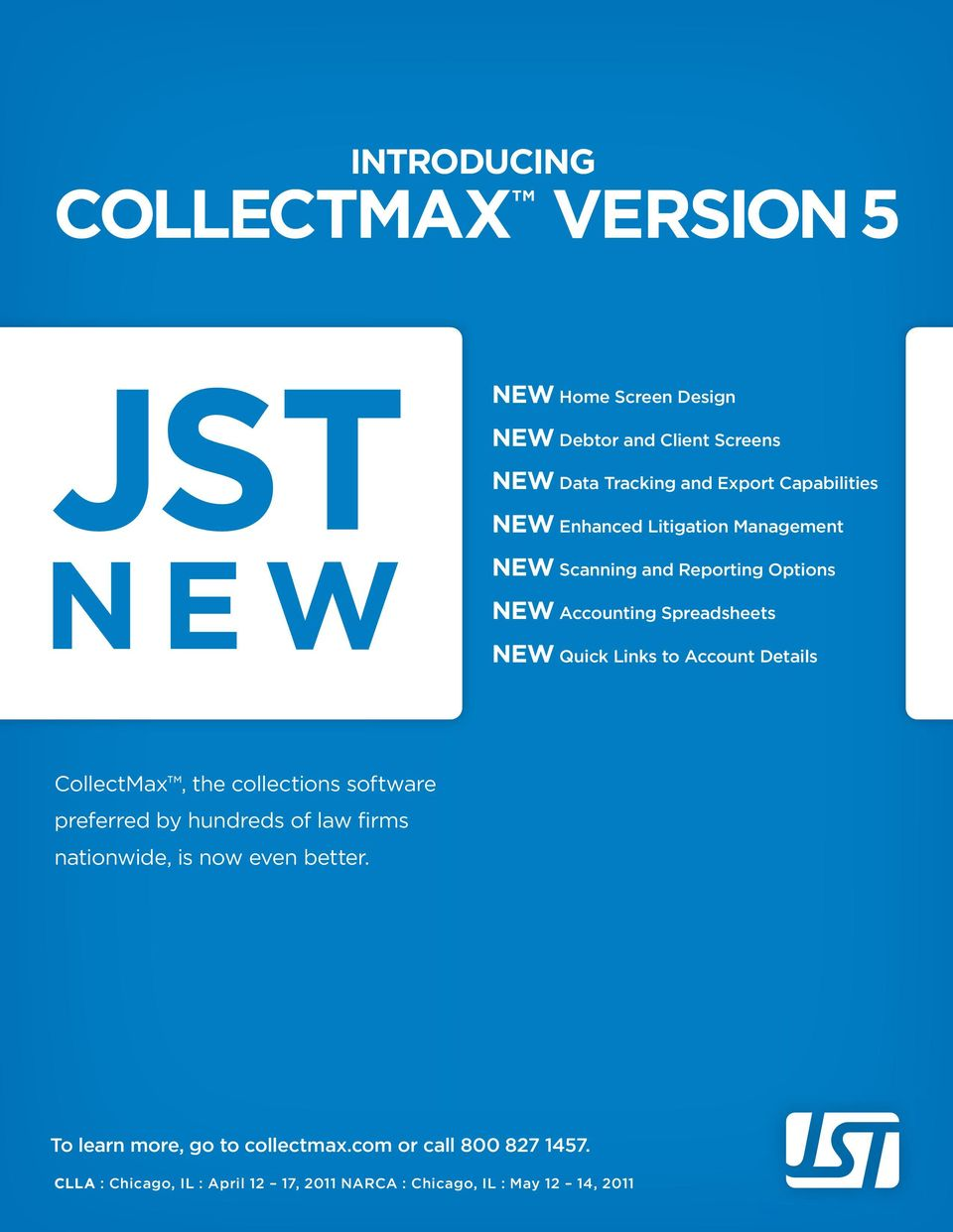 Links to Account Details CollectMax, the collections software preferred by hundreds of law firms nationwide, is now even