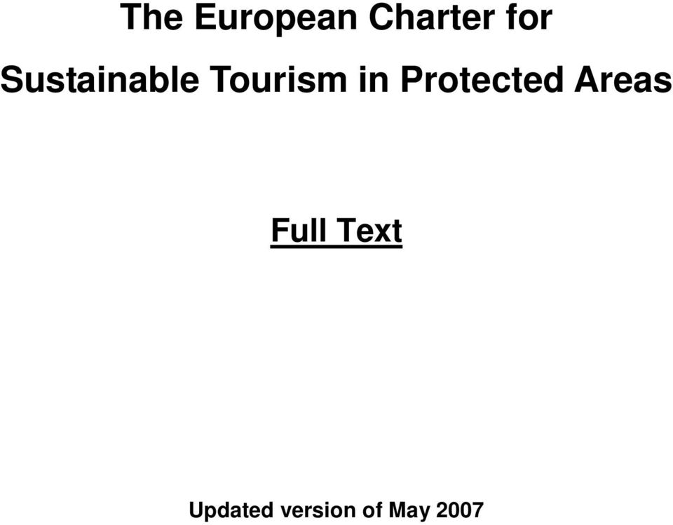 Protected Areas Full Text