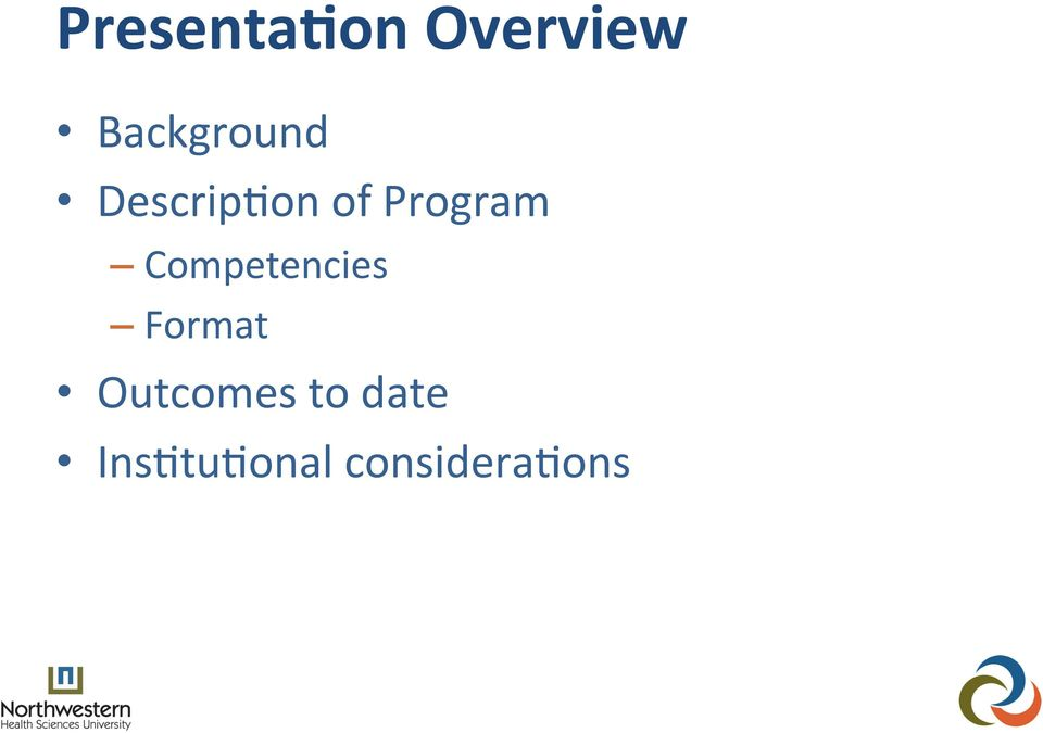 Program Competencies Format