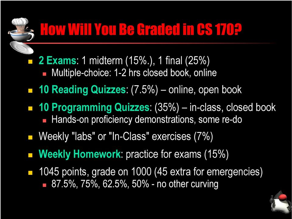cs 170 java programming 1 welcome to cs 170 all about cs 170 the