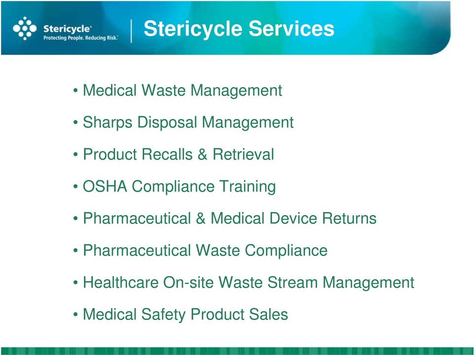 Pharmaceutical & Medical Device Returns Pharmaceutical Waste