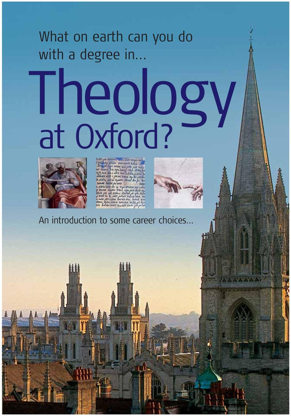 .. Theology at Oxford?