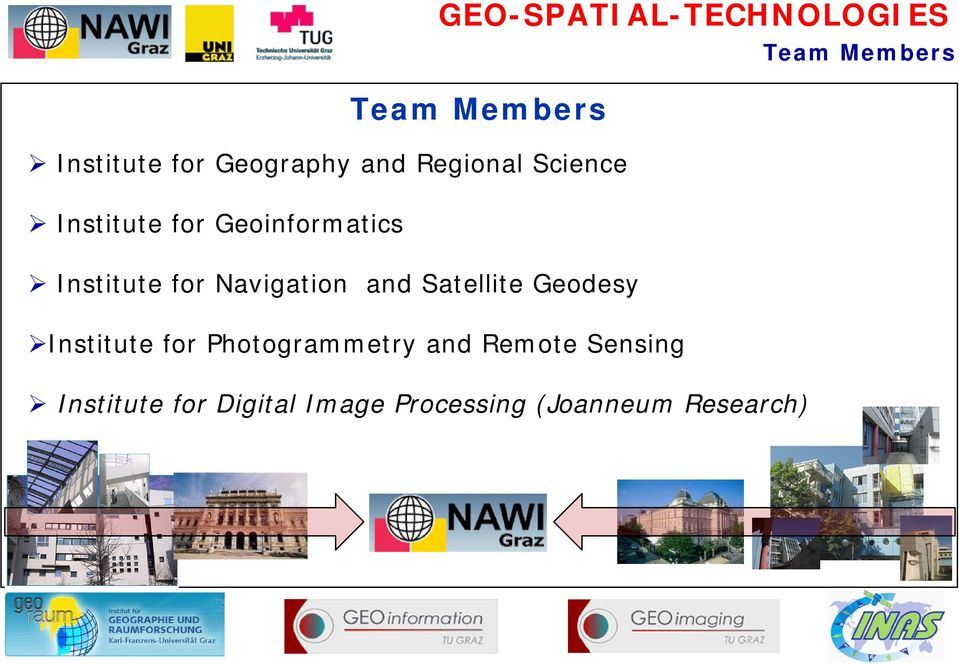 Satellite Geodesy Institute for Photogrammetry and Remote