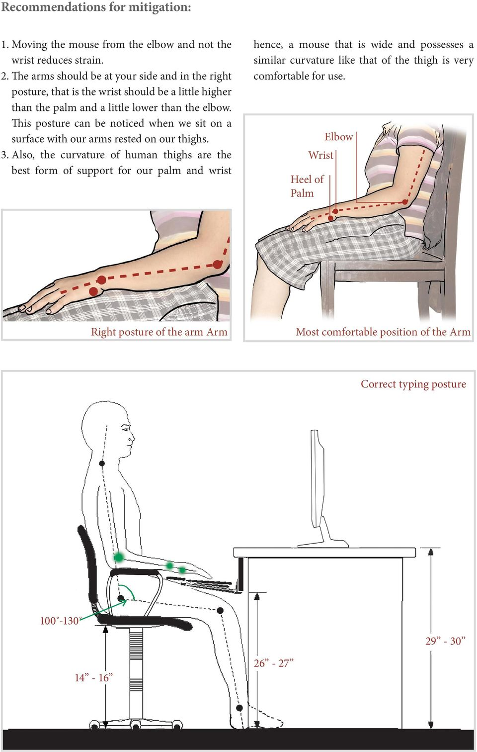 This posture can be noticed when we sit on a surface with our arms rested on our thighs. 3.
