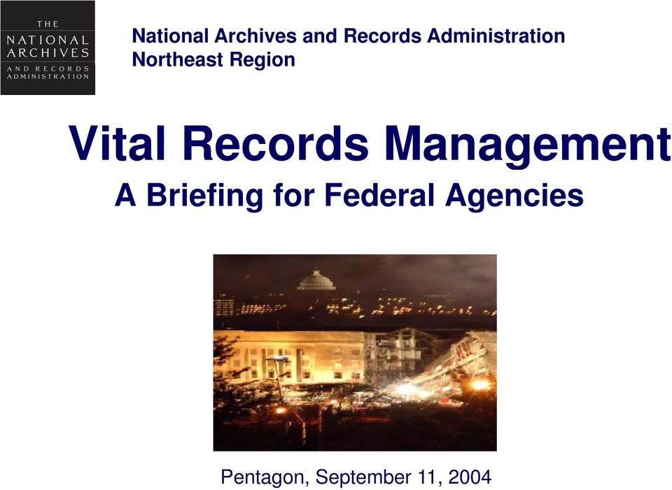 Vital Records Management A Briefing
