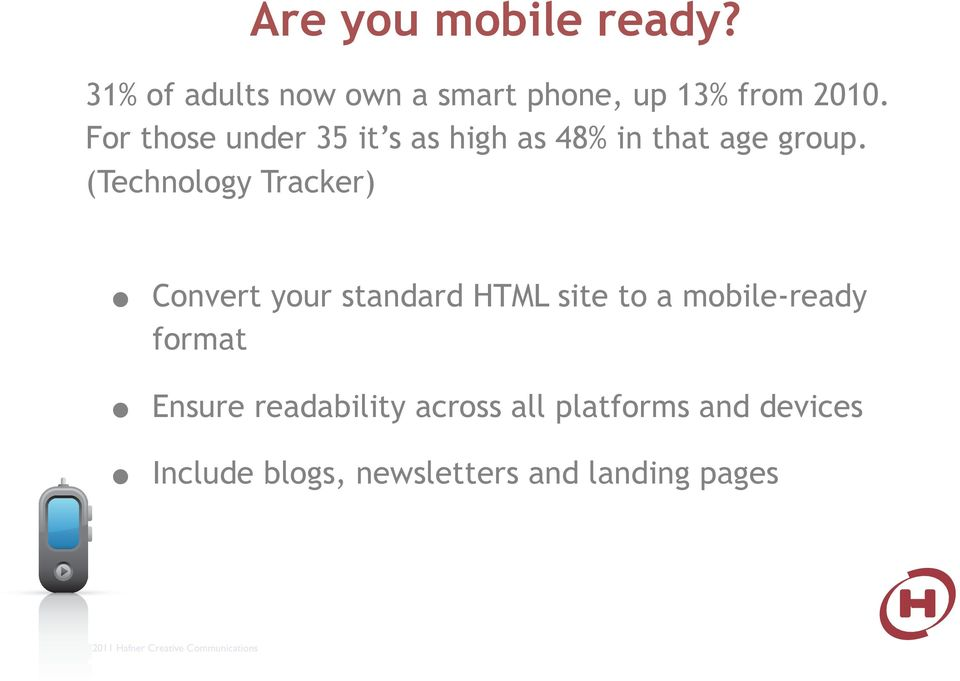 (Technology Tracker) Convert your standard HTML site to a mobile-ready format