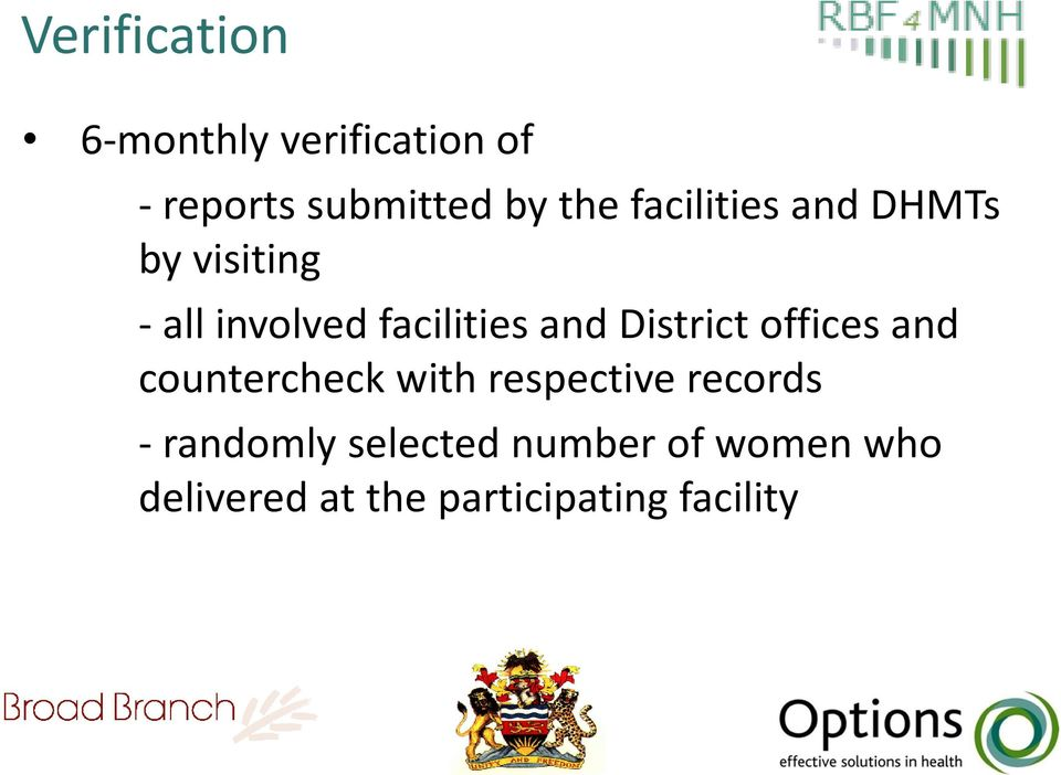 District offices and countercheck with respective records -