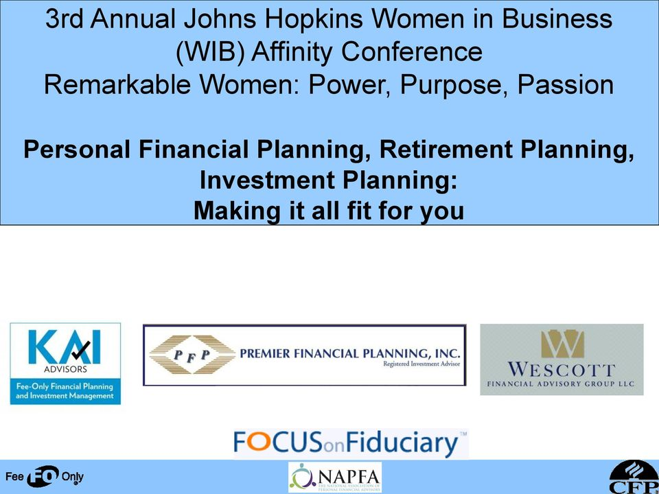 Purpose, Passion Personal Financial Planning,
