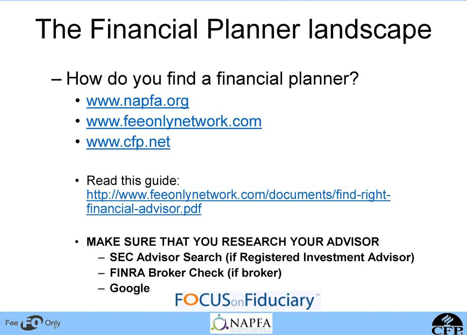 pdf MAKE SURE THAT YOU RESEARCH YOUR ADVISOR SEC Advisor Search (if Registered