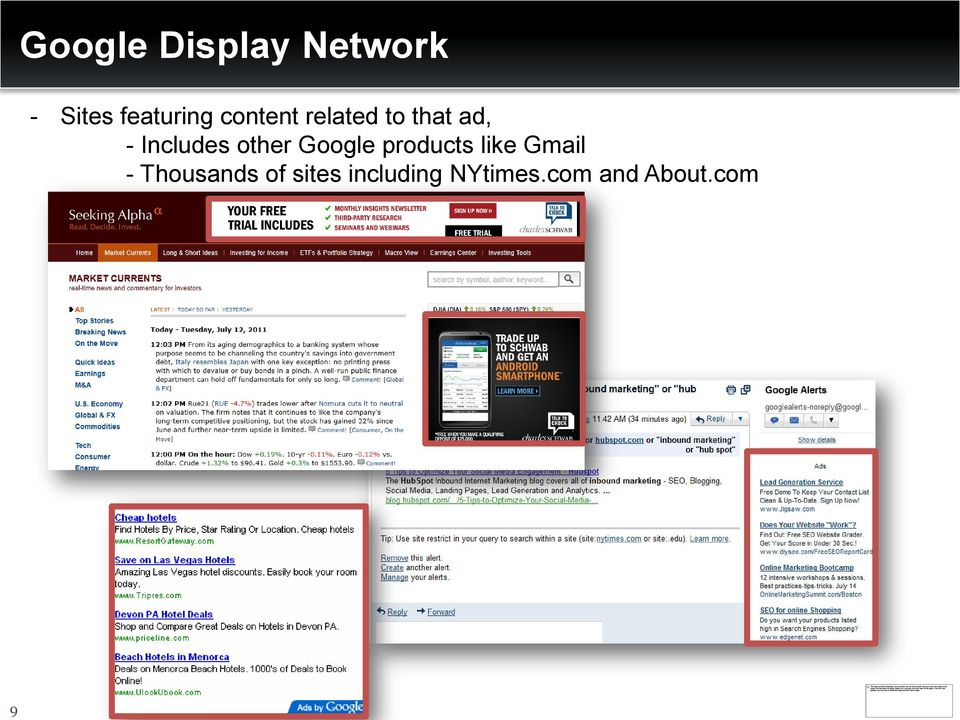 other Google products like Gmail -