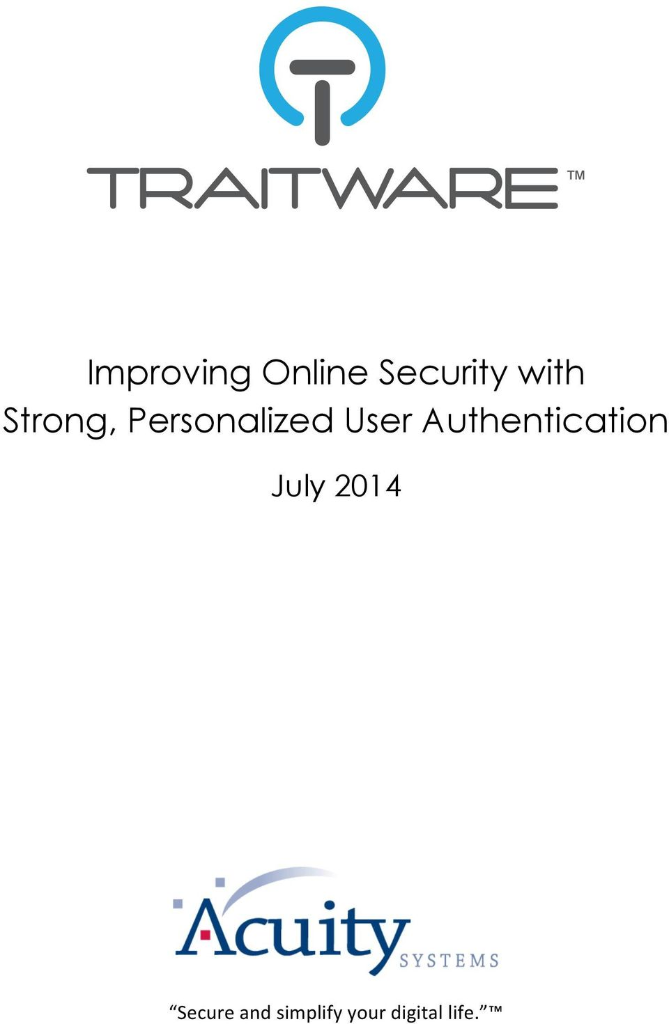 User Authentication July 2014