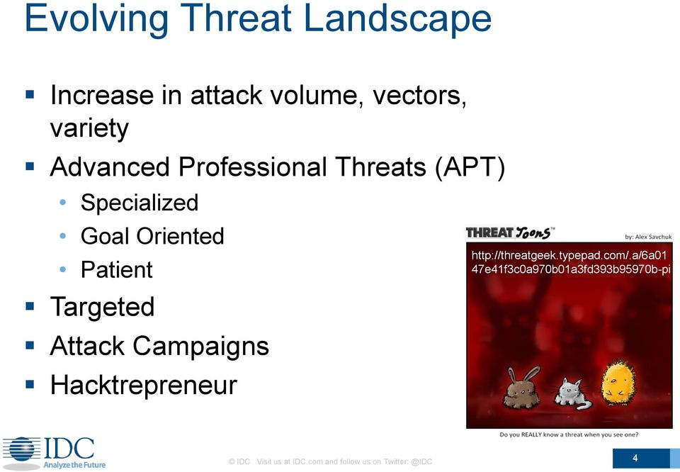 Targeted Attack Campaigns Hacktrepreneur http://threatgeek.typepad.com/.