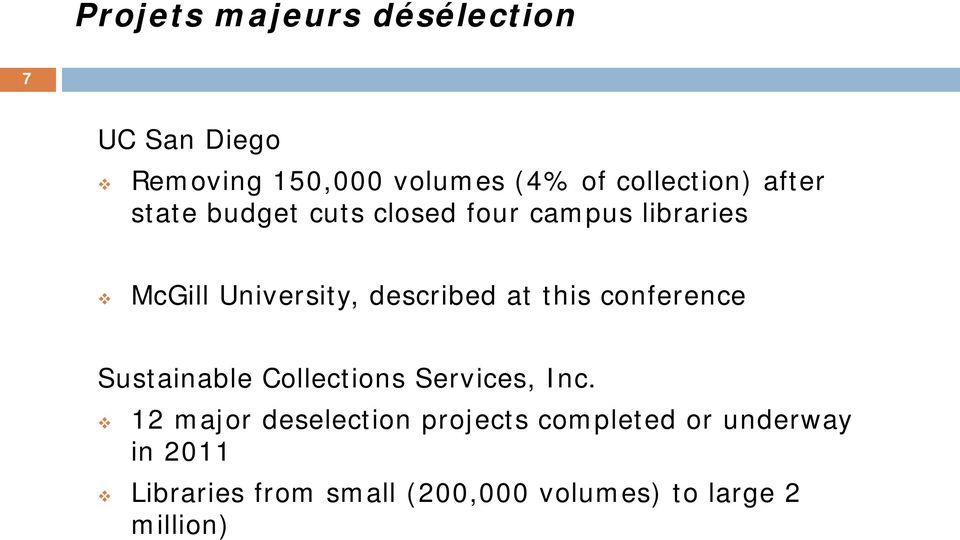 this conference Sustainable Collections Services, Inc.