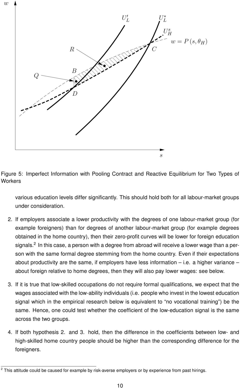 If employers associate a lower productivity with the degrees of one labour-market group (for example foreigners) than for degrees of another labour-market group (for example degrees obtained in the
