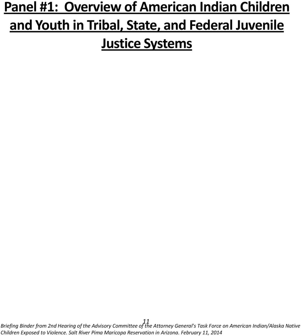 Committee of the Attorney General's Task Force on American Indian/Alaska Native