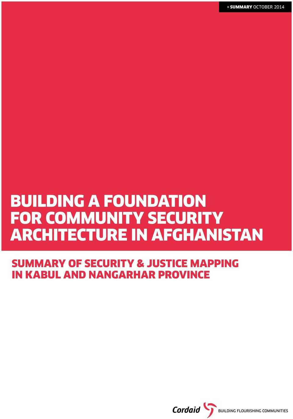 ARCHITECTURE IN AFGHANISTAN SUMMARY OF