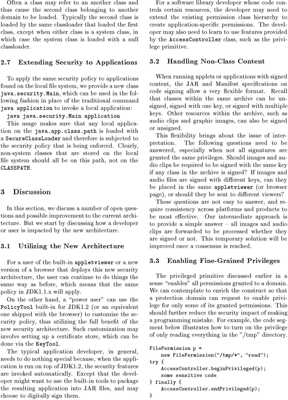 7 Extending Security to Applications To apply the same security
