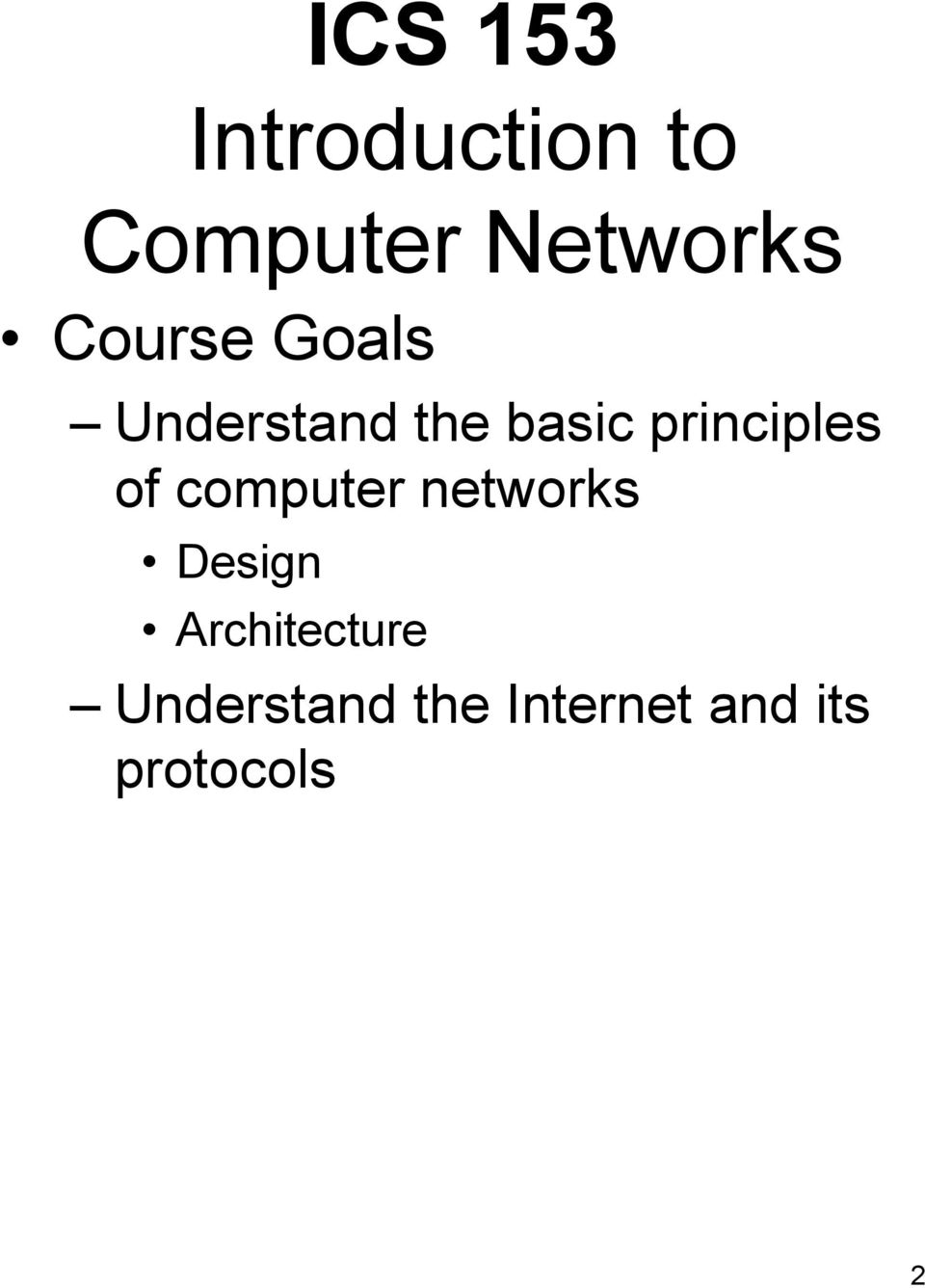 principles of computer networks Design