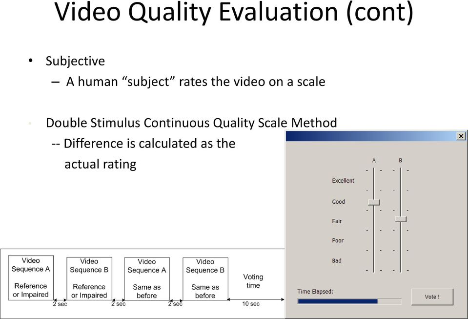 Continuous Quality Scale Method -- Difference is