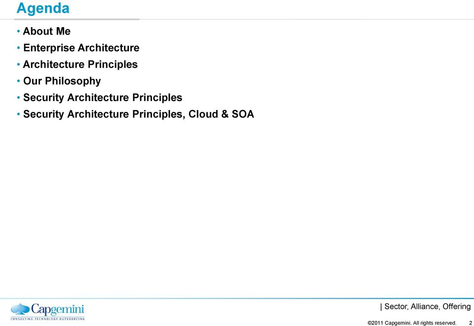 Security Architecture Principles