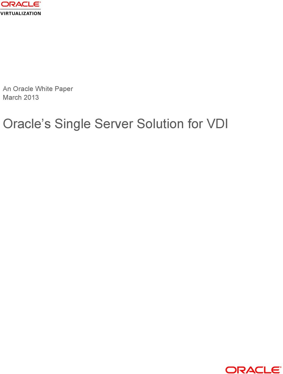 Oracle s Single