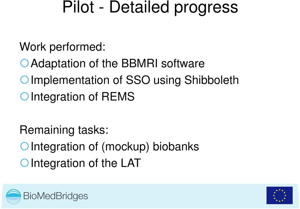 SSO using Shibboleth Integration of REMS Remaining