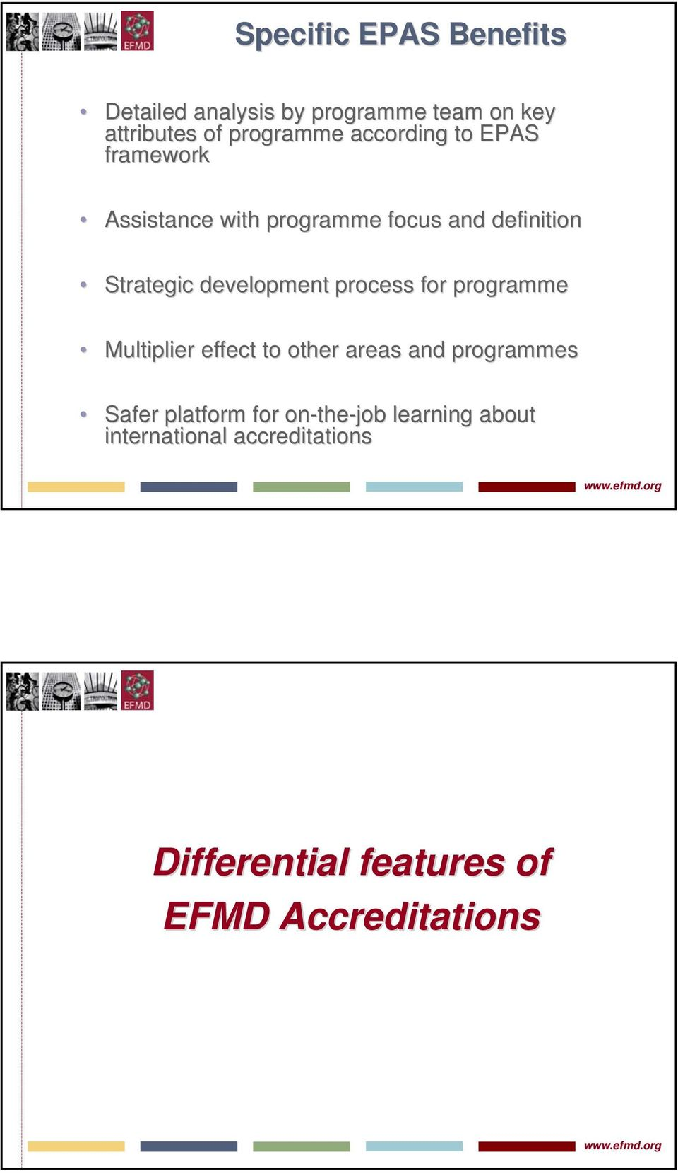 development process for programme Multiplier effect to other areas and programmes Safer