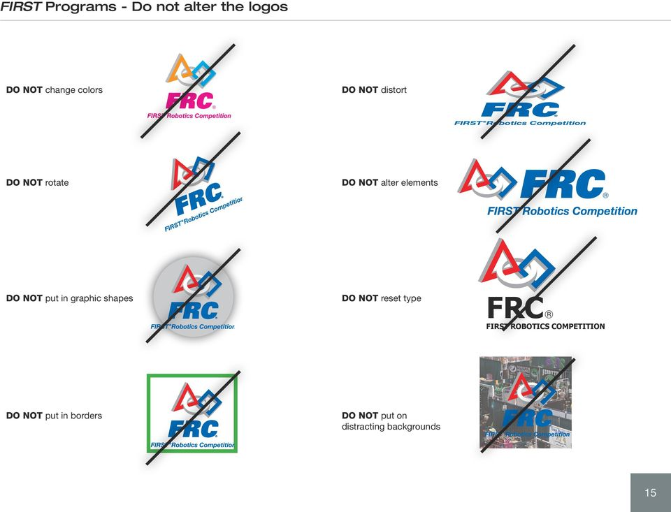in graphic shapes DO NOT reset type FRC FIRST ROBOTICS
