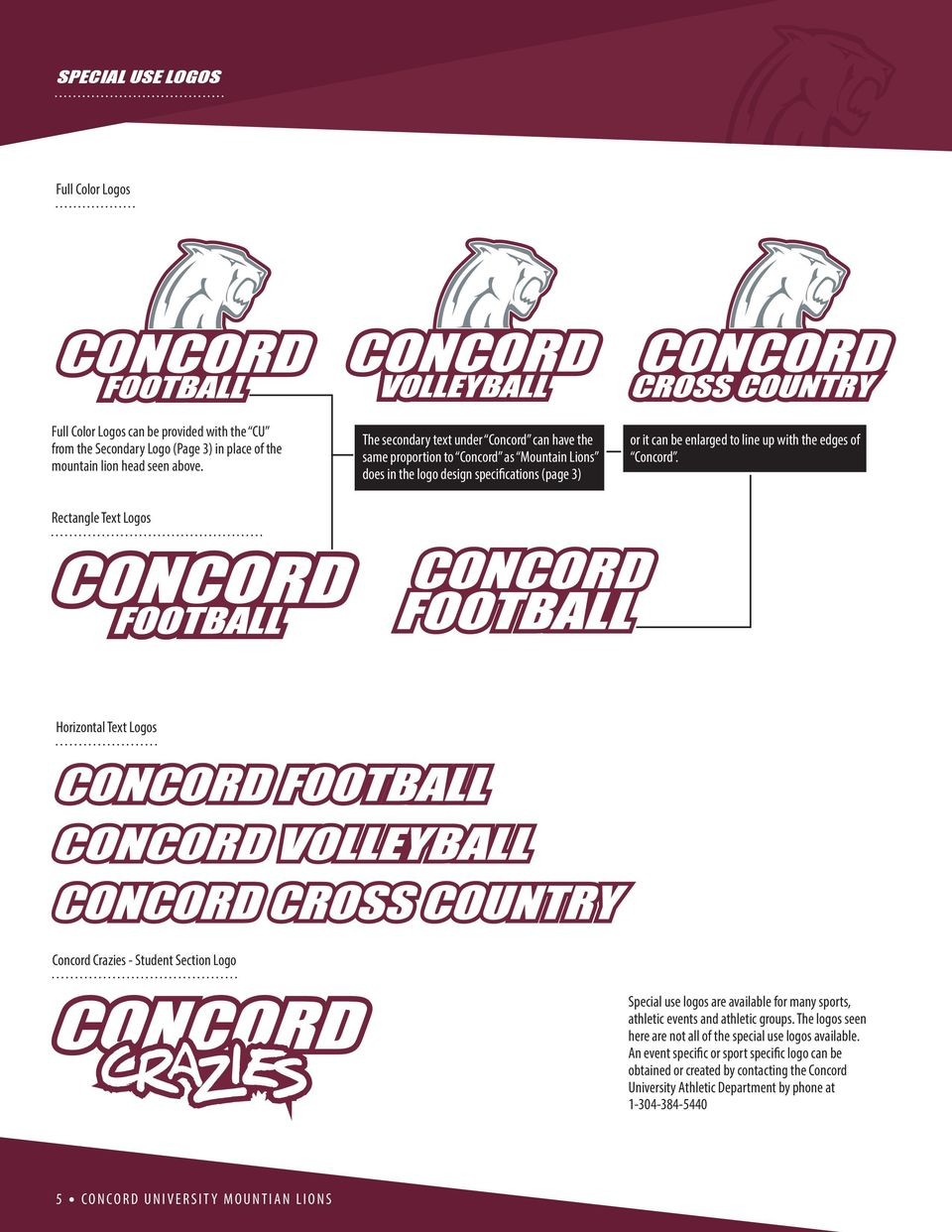 Concord. Rectangle Text Logos Horizontal Text Logos Concord Crazies - Student Section Logo Special use logos are available for many sports, athletic events and athletic groups.