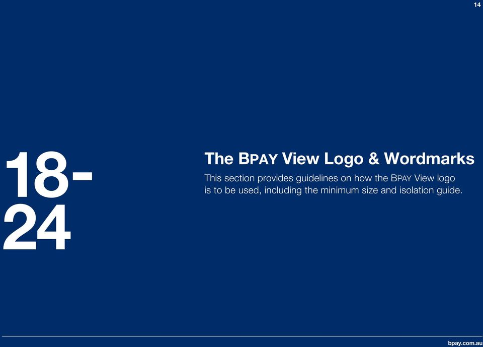 the BPAY View logo is to be used,