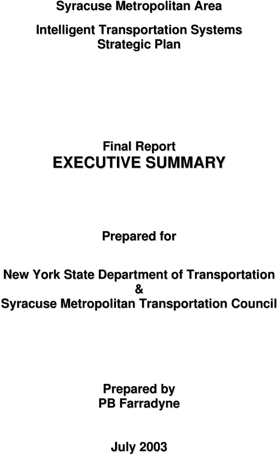 New York State Department of Transportation & Syracuse