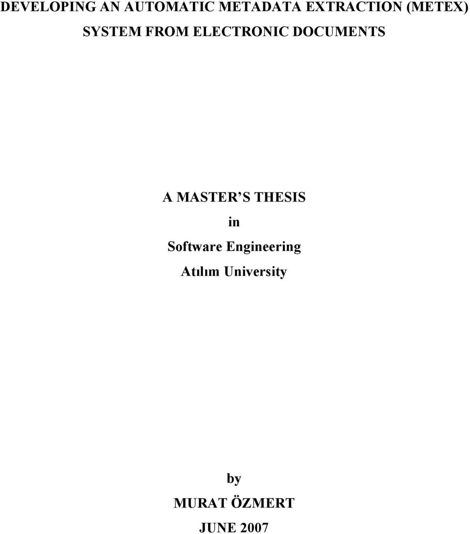 DOCUMENTS A MASTER S THESIS in Software