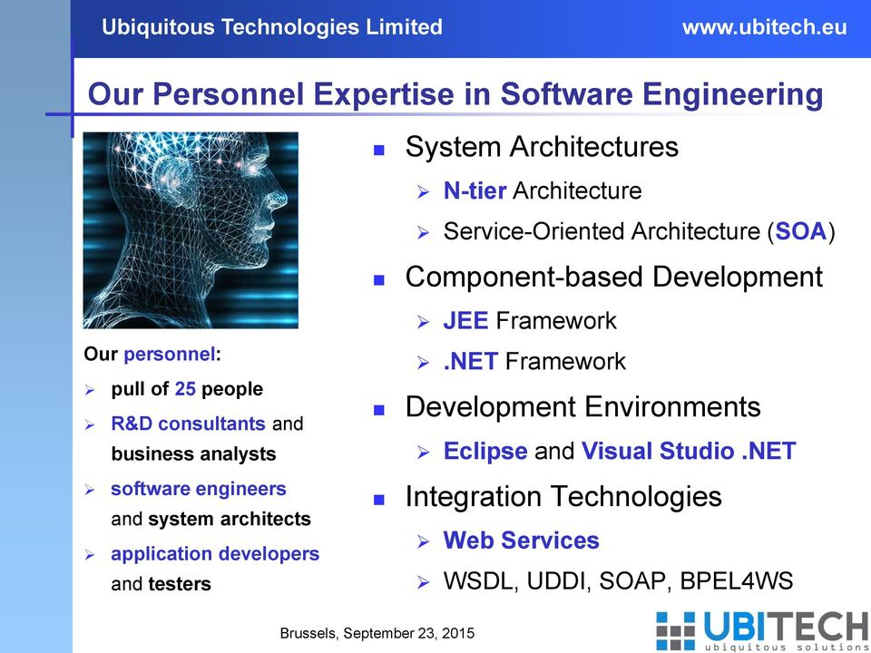 analysts software engineers and system architects application developers and testers JEE Framework.