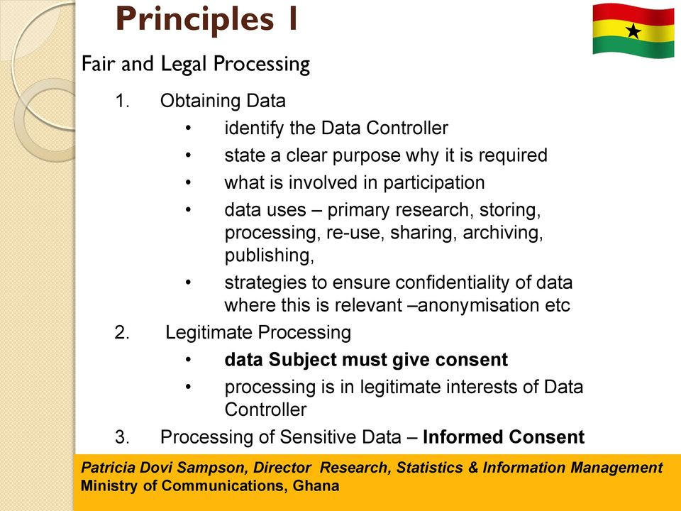 uses primary research, storing, processing, re-use, sharing, archiving, publishing, strategies to ensure confidentiality of