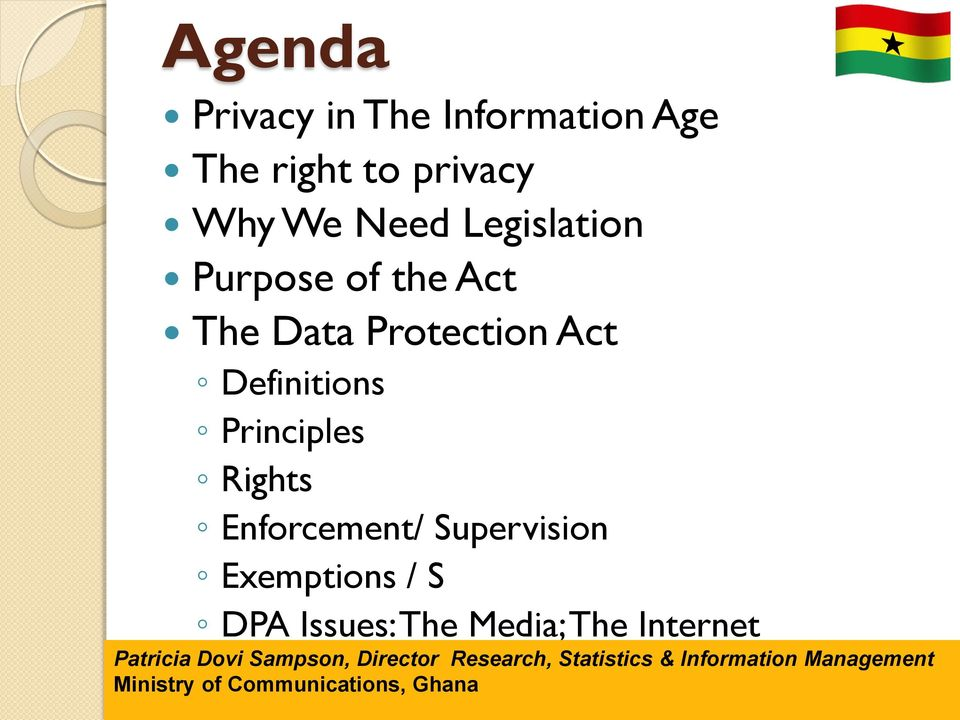 Rights Enforcement/ Supervision Exemptions / S DPA Issues: The Media; The