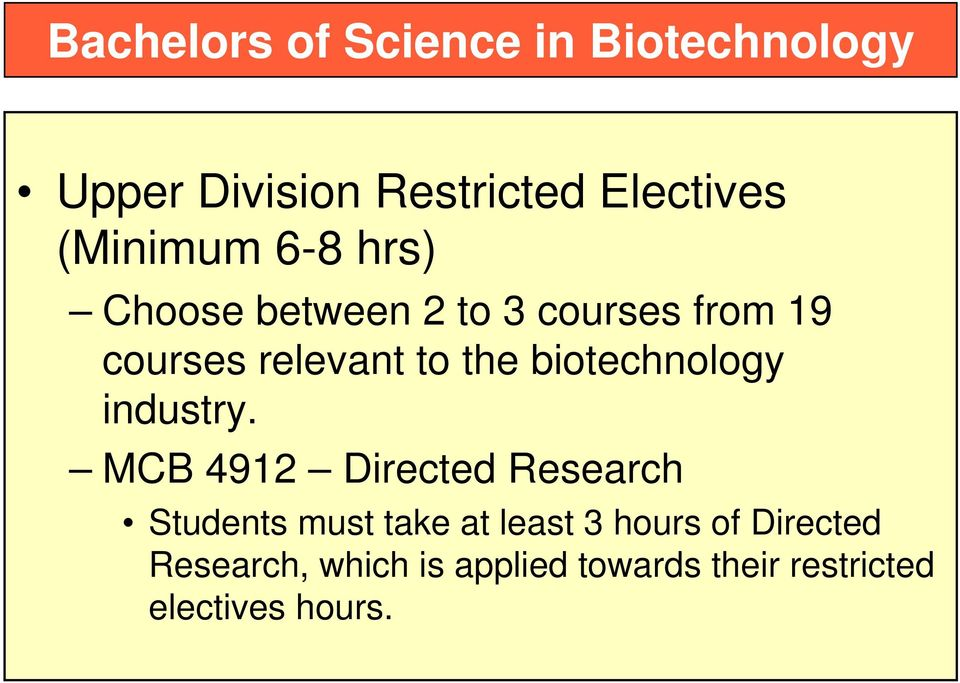 biotechnology industry.