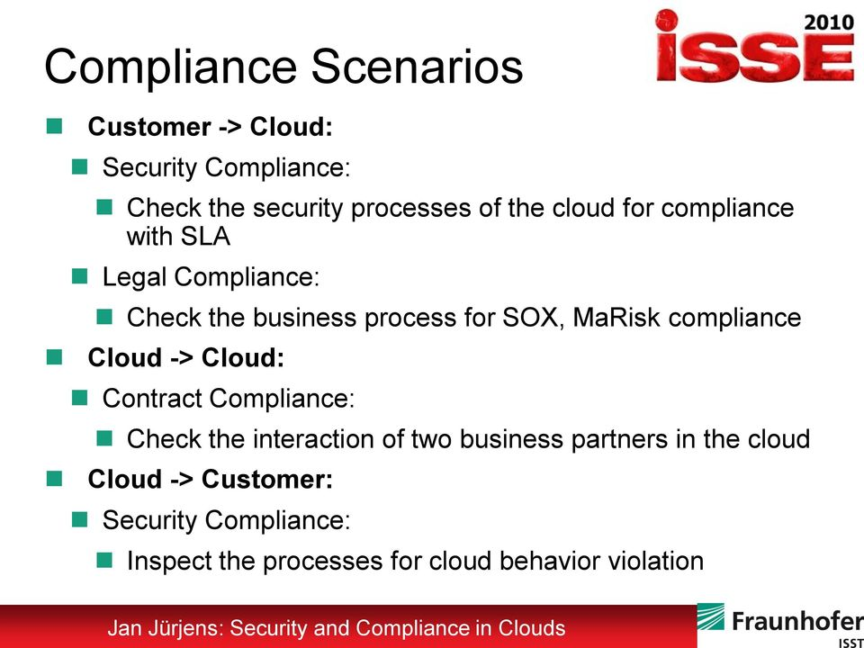 compliance Cloud -> Cloud: Contract Compliance: Check the interaction of two business partners